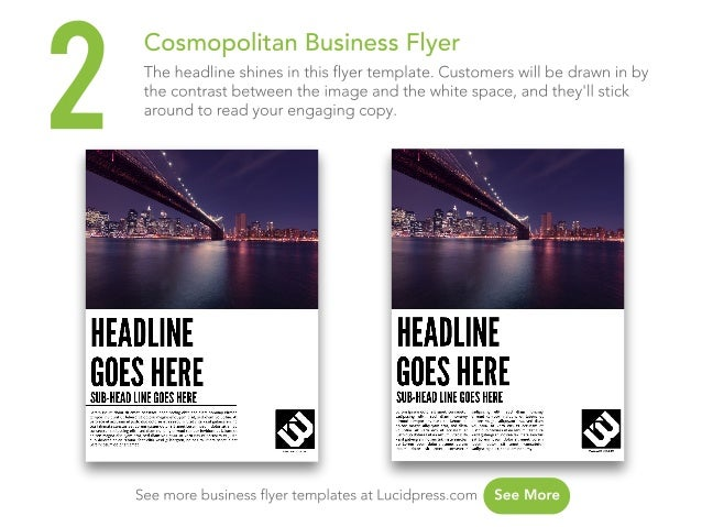 new business flyer template