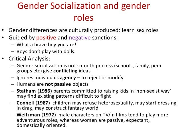 how does gender socialization impact society
