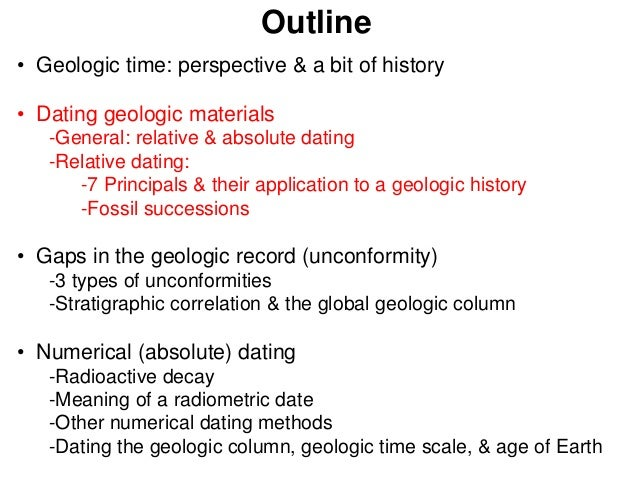 explain the difference between relative and absolute dating techniques