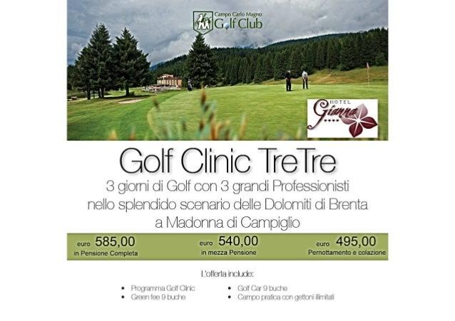 golf clinic pacchetto vacanza hotel gianna madonna di campiglio