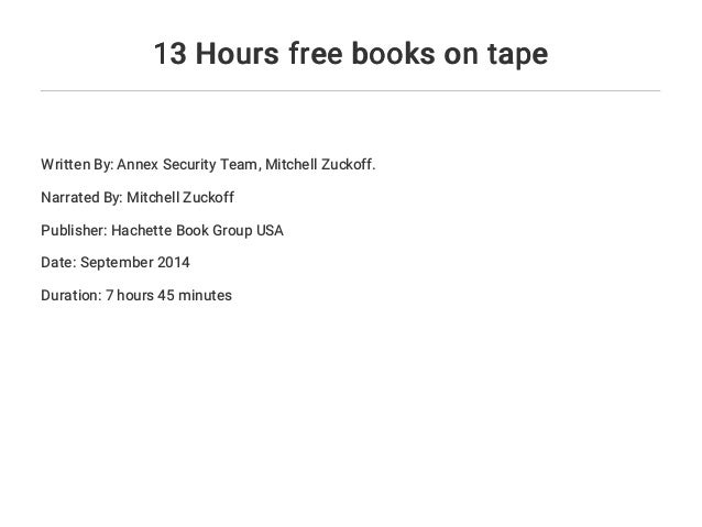 13 Hours Free Books On Tape