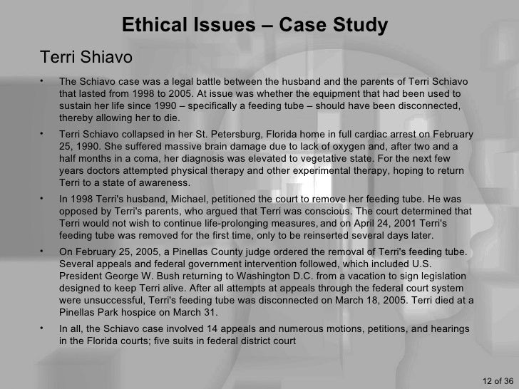 terri schiavo ethics paper The terri schiavo case was a legal struggle over end-of-life care in the  as  rabbi a vram reisner points out in his paper on these issues,.