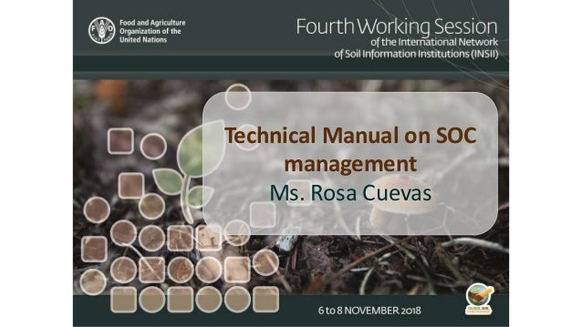 Technical Manual on SOC management Ms. Rosa Cuevas
