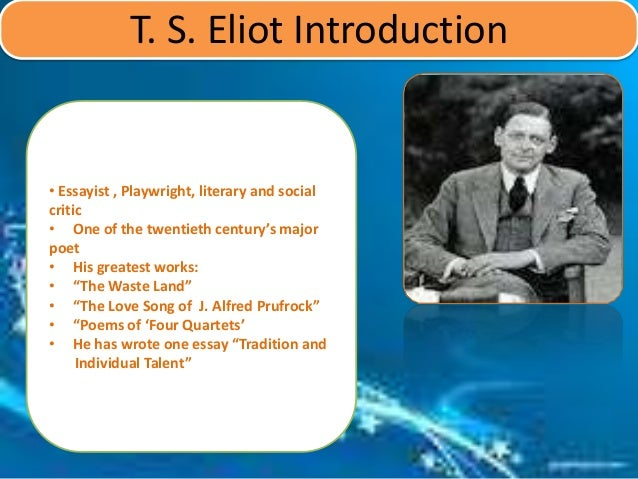 an analysis of the literary style and writing techniques of ts eliot Writing about the poetry of eliot is difficult for a number of reasons for eliot, the tradition of literature comprised a living body of works that both influenced contemporary writers and, at one of the important ways that the essay has altered literary criticism has to do with the meaning of the.