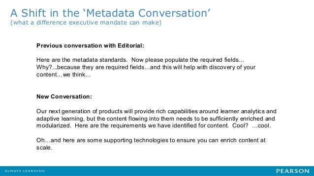 Simon	   Wilkinson	    Director	   of	   Product	    EQUELLA	   Content	   Pla;orm	    A Shift in the 'Metadata Conversati...