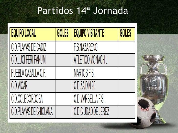 Partidos 14ª Jornada