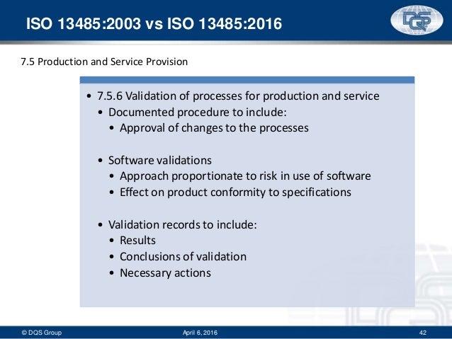 iso 13485 process validation procedure