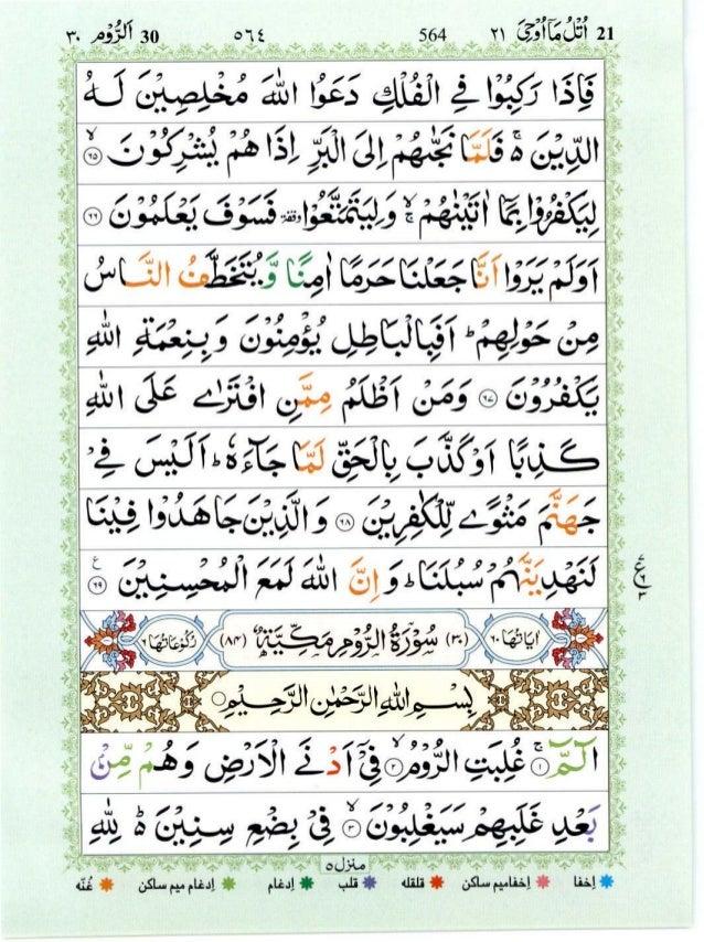 Quran with Tajwid Surah 30 ﴾القرآن سورۃ الروم﴿ Ar-Rum 🙪 PDF
