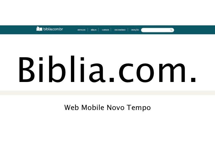 Biblia.com.  Web Mobile Novo Tempo
