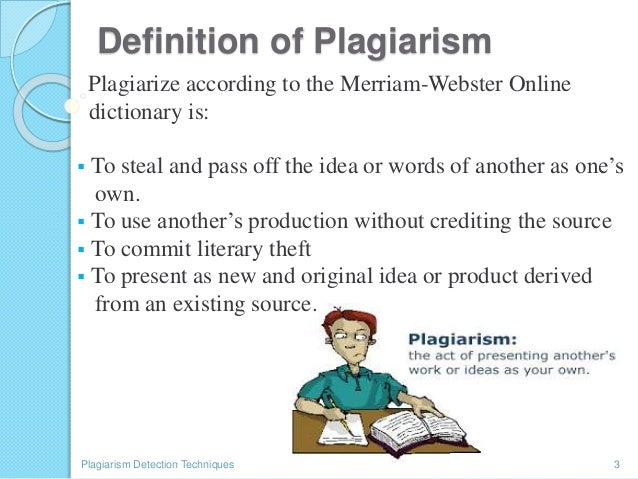 what does plagiarism mean