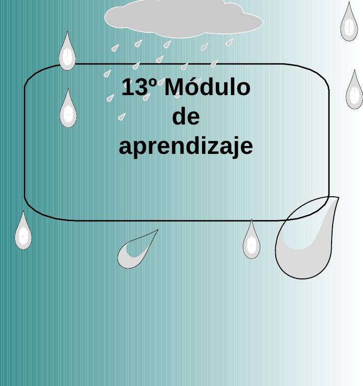 13º Módulo de aprendizaje