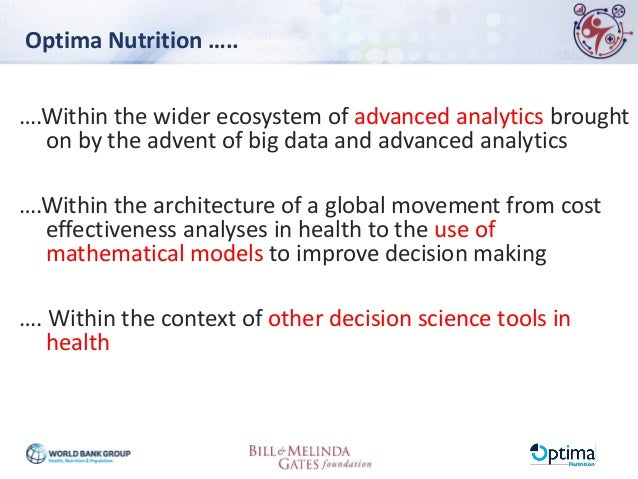 Optima Nutrition: A Tool for Enhancing the Efficiency of Nutrition Spending Slide 2