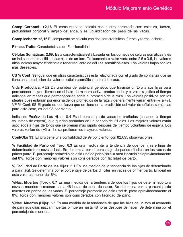 Módulo Mejoramiento Genético  30  INTERPRETANDO UN CATÁLOGO DE TOROS PARA PRODUCCIÓN DE CARNE  Nombre NUMERO REGISTRO FH.N...