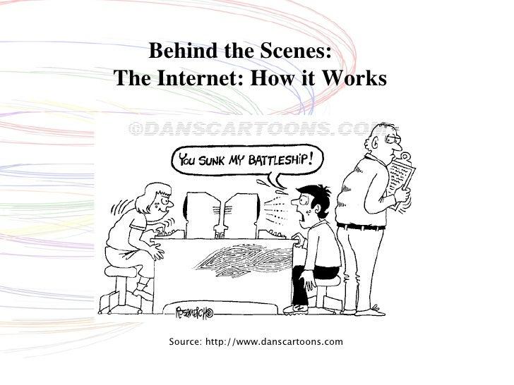 Behind the Scenes: The Internet: How it Works          Source: http://www.danscartoons.com