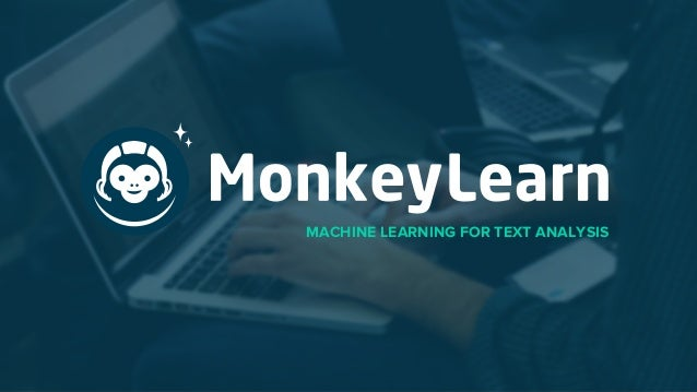 MACHINE LEARNING FOR TEXT ANALYSIS