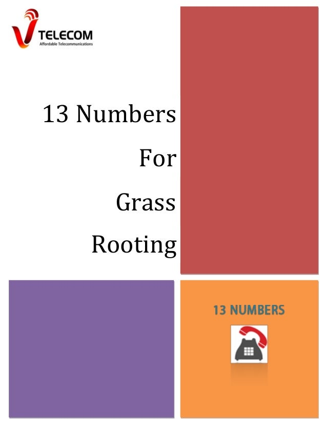 13 Numbers For Grass Rooting