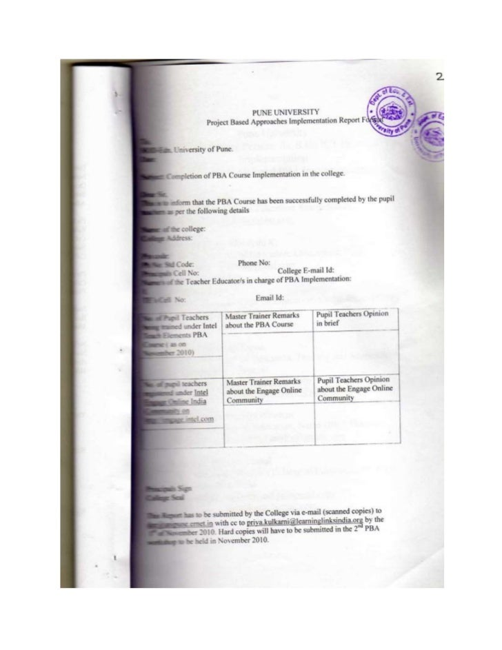 13 pba implementaiton report