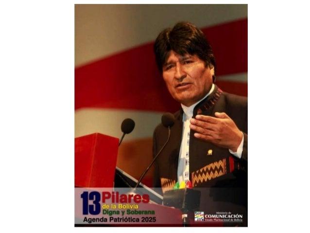 Erradicación de la pobreza extrema • En Bolivia se ha erradicado la pobreza extrema material al año 2025. • En Bolivia se ...