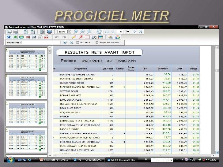 PROGICIEL METR<br />