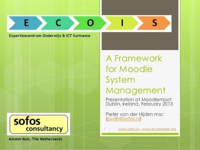 Expertisecentrum Onderwijs & ICT Suriname                                                A Framework                      ...