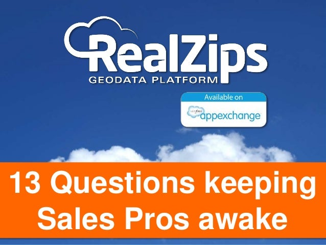 13 Questions keeping Sales Pros awake