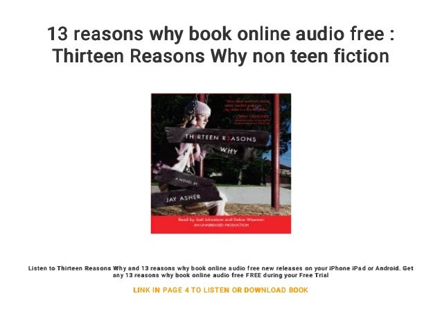 13 Reasons Why Book Online Audio Free Thirteen Reasons Why Non Teen