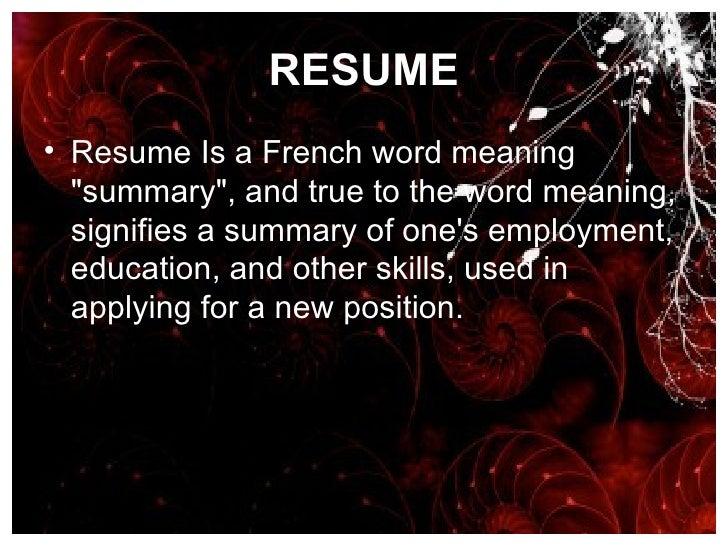 13 Resume Curriculum Vitae Bio Data