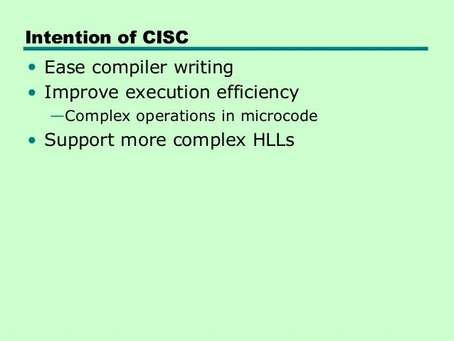 a comparison of the characteristics of the cisc and risc computer technologies Epic (explicitly parallel instruction computing) is a 64-bit microprocessor  by  comparison, current 32-bit cisc and risc microprocessor architectures depend .