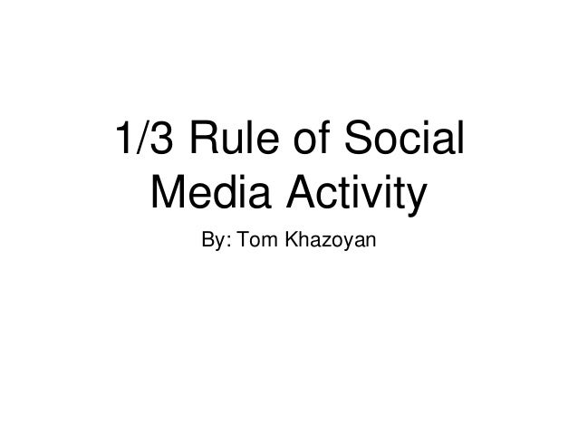 1 3 rule slideshare powerpoint
