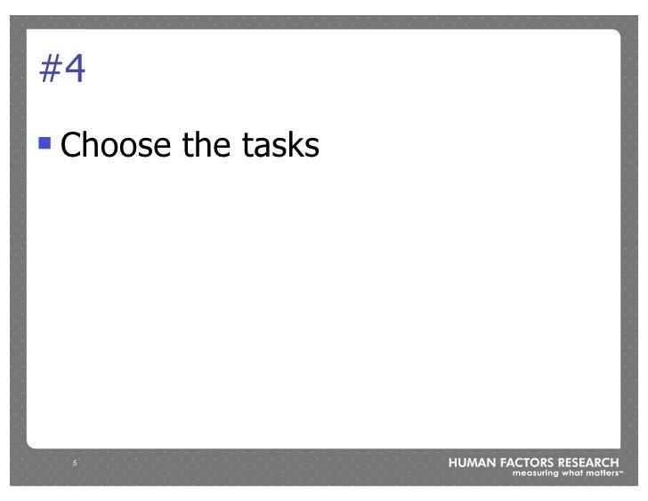 #4 !   Choose the tasks         5