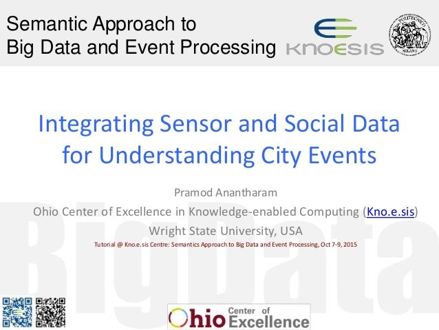 Semantic Approach to Big Data and Event Processing Integrating Sensor and Social Data for Understanding City Events Pramod...