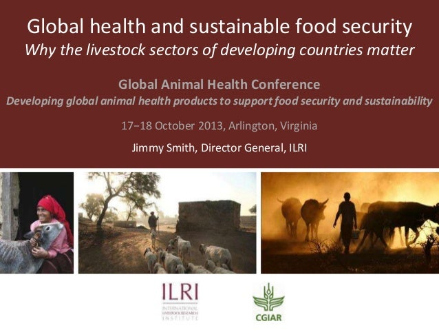 Global health and sustainable food security Why the livestock sectors of developing countries matter Global Animal Health ...