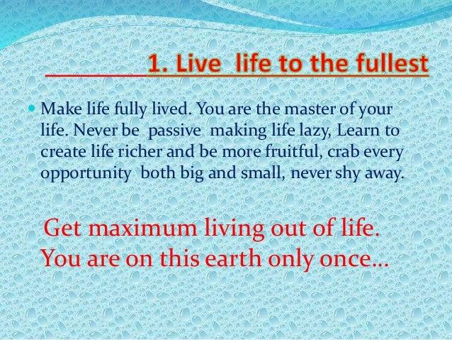 13 Steps To Lead A Happy Life Slide 3
