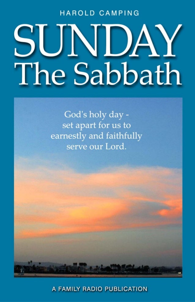 Sunday: The Sabbath  i