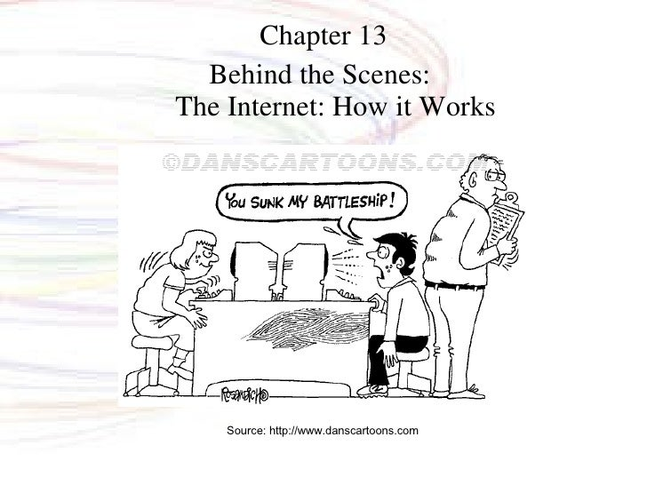 Chapter 13 Behind the Scenes:  The Internet: How it Works Source: http://www.danscartoons.com