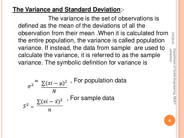 Standard Deviation Its Coefficient And Variance By Ghulam MUstafa 13TE89