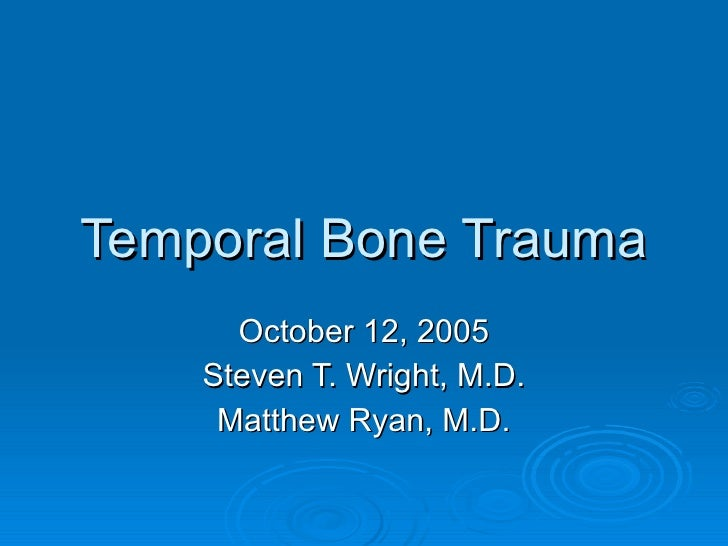 13 Temporal Bone Trauma