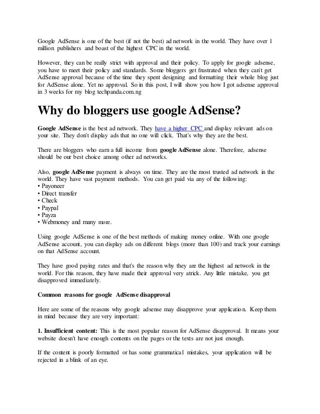 13 things to do before applying for adsense