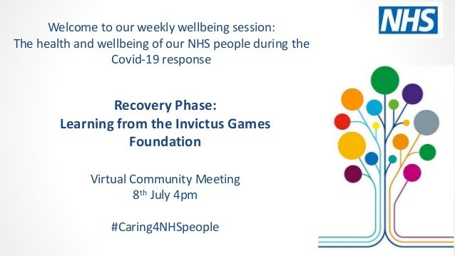 Recovery Phase: Learning from the Invictus Games Foundation Virtual Community Meeting 8th July 4pm #Caring4NHSpeople Welco...