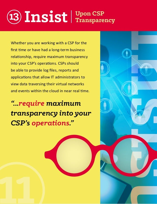13  Whether you are working with a CSP for the first time or have had a long-term business relationship, require maximum t...