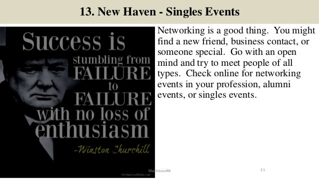 New haven singles events