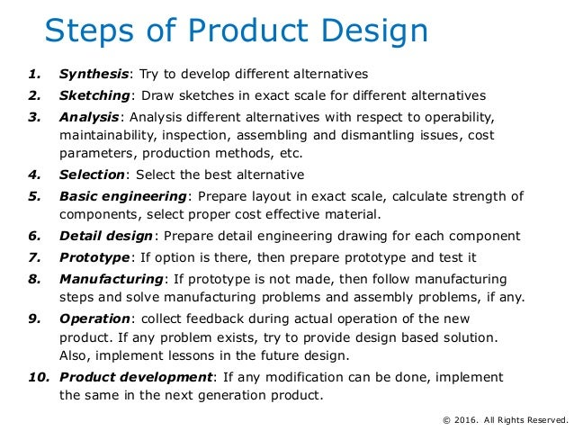Basics of product and process design management for Product design for manufacturing