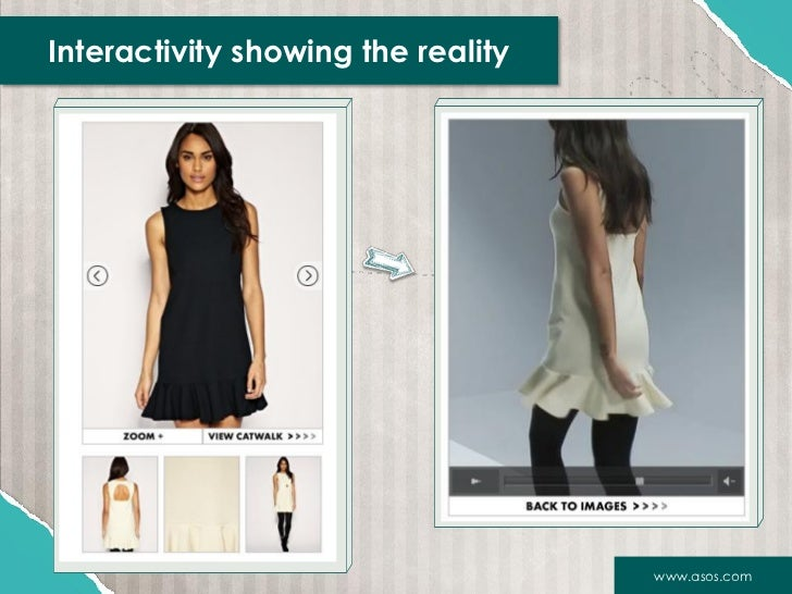 Interactivity showing the reality                                    www.asos.com