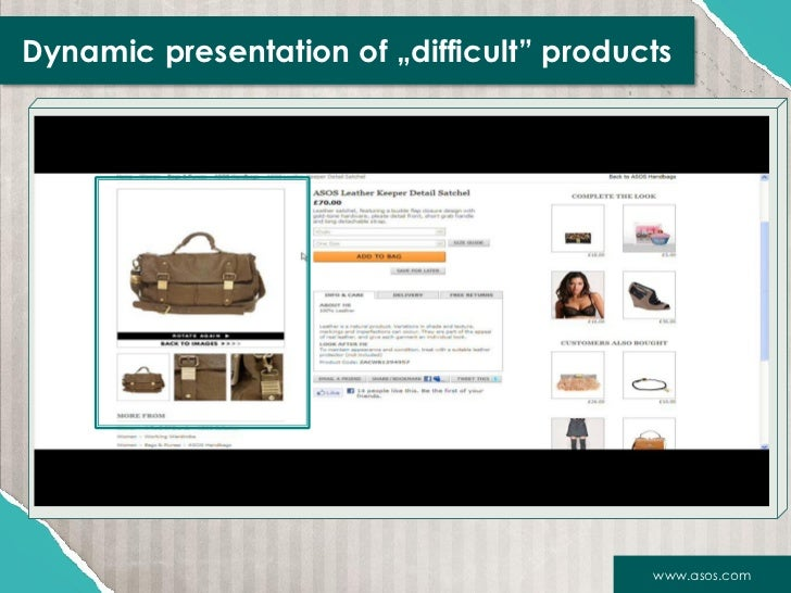 """Dynamic presentation of """"difficult"""" products                                          www.asos.com"""