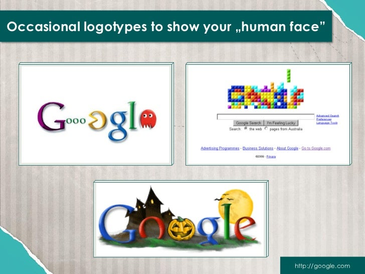 """Occasional logotypes to show your """"human face""""                                         http://google.com"""