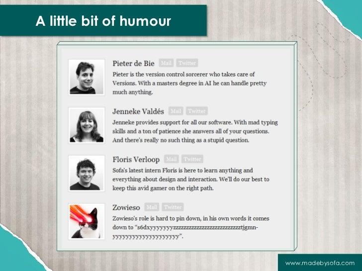 A little bit of humour                         www.madebysofa.com
