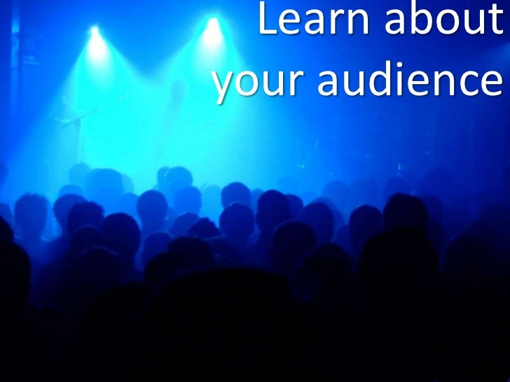 Learn aboutyour audience