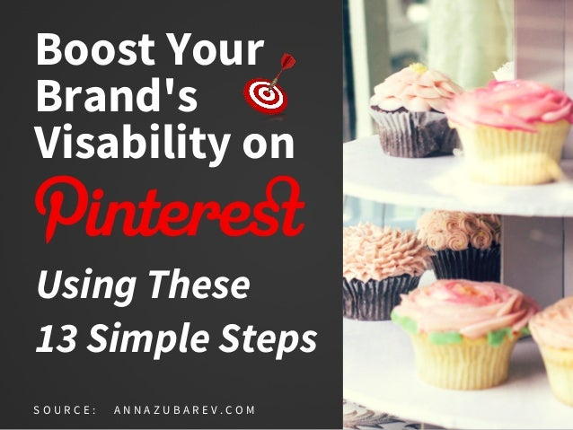 Boost Your Brand's Visability on Using These 13 Simple Steps S O U R C E : A N N A Z U B A R E V . C O M