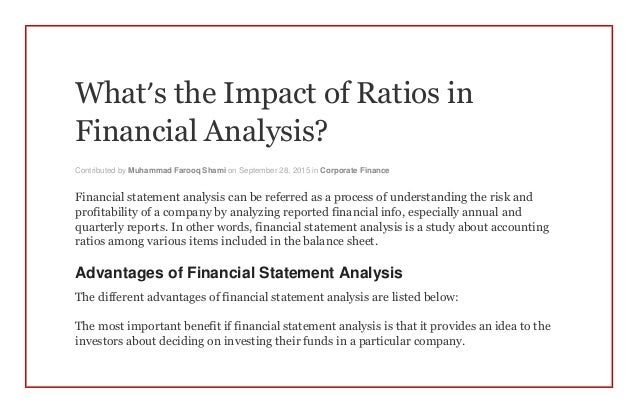 factors affect financial ratios Essays - largest database of quality sample essays and research papers on factors affect financial ratios.