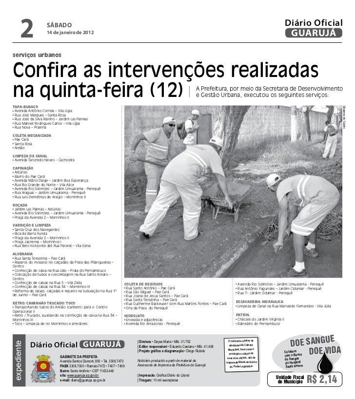 Diário Oficial de Guarujá - 14-01-12 Slide 2